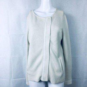 Eileen Fisher Beige Cream Cardigan Silk Cotton S